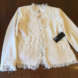 LUII Cream Boucle Tweed Lightweight Jacket NWT
